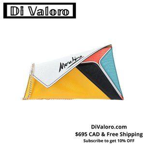 Moschino Multicolour Asymmetric Envelope Bag